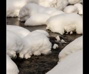 Schnee im Wasser